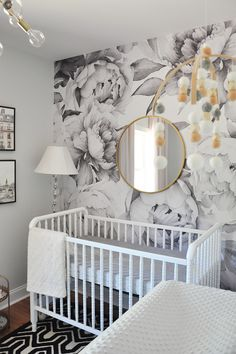Unique Wallpaper Accent Wall Bedroom Girl Baby Rooms wallpaper accent wall Spring 2017 e Room Challenge Week 6 The Sweetest Nursery Wallpaper Bedroom Baby, Accent Wall Bedroom, Baby Bedroom, Nursery Room, Girls Bedroom, Nursery Decor, Bedroom Decor, Wall Wallpaper, Living Room Wallpaper Accent Wall