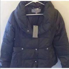 Marc New York Puffer Jacket Pillow Collar Gray M