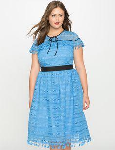 Layered Ruffle Lace Dress | Women's Plus Size Dresses | ELOQUII