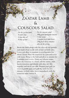 Za'atar Lamb, Burrata Salad