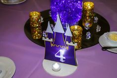 Custom Table Signs | Castle Shaped Table Sign