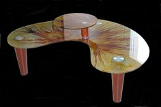 Δημιουργία μου σε ξύλο-γυαλί με βαφή σε κλαδιά-2 επίπεδα.