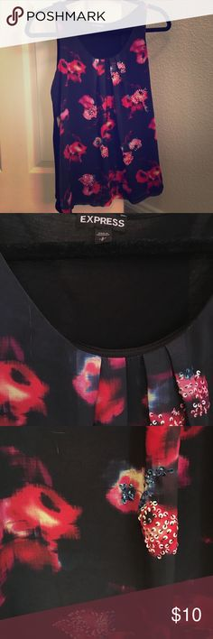 Express Sequin Tank Perfect for a night out! Sequin details add a romantic touch!! Express Tops Tank Tops
