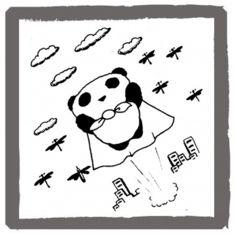 アンアン・ミニコミで連載していたパンダの絵   <byパンツ屋エディ>   1978年10月5日号掲載