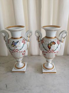 Check out this item in my Etsy shop https://www.etsy.com/listing/583742354/antique-french-pair-vases-empire