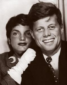 A photo-booth shot of John and Jacqueline Kennedy while they were dating. John was known to carry the strip, from which this photograph belonged, in his wallet.