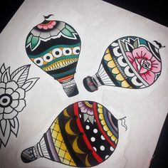 #ballon #watercolor #traditionaltattoo #tattoovice ESTUDO