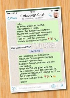 einladung geburtstag per whatsapp