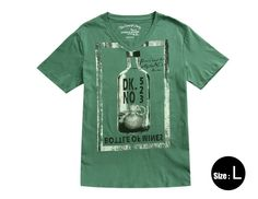 Casual short sleeve T-shirt with V neck  Made of 100% cotton and soft to touch  Double-stitched sleeves and hem  Simple design and breathable  Comfortable to wear in summer  Wash with similar colors clothes  General Specs  StyleCasual T-shirt  SizeLarge  Material100% cotton  PatternBottle  Co...
