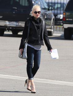 Pregnant Gwen Stefani. She's got nice shoes.