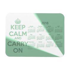 Keep Calm 2016 Calendar by Janz Green 3x4 Magnet