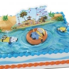 Despicable Me Minions Beach Party Cake Decorating Kit