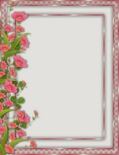 33 best pretty borders images on pinterest tags blank labels and pink png frame with left side flower border mightylinksfo