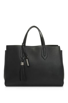 96095b7a57 Saint Laurent Amber Medium Soft Leather Tote (Black  Calfskin Leather)   leather