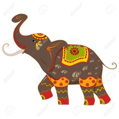 indian elephant clipart google search peacocks pinterest rh pinterest com Indian Elephant Drawing indian wedding elephant clipart