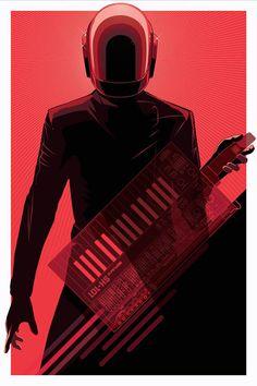 Artiste : Craig Drake - Sujet : Daft Punk
