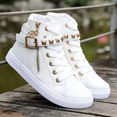Canvas shoes woman 2020 new women shoes fashion zipper wedge women sneakers high help solid color ladies shoes tenis feminino fashion shoes – Fashions High Top Sneakers, Sneakers Mode, Sneakers Fashion, Fashion Shoes, Shoes Sneakers, Women's Shoes, High Heels, Color Fashion, Canvas Sneakers