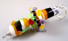 Halloween Fancy Handmade Lampwork Glass Witch Bead Set by TLBeads, $39.00