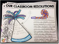 Classroom Resolutions!! Perfect way to ease students back into school after winter break while reviewing expectations!