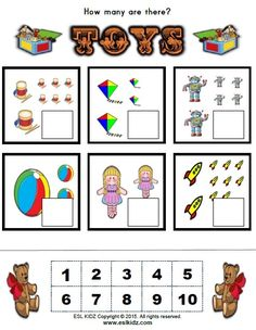 Counting For Kids, Worksheets For Kids, Teaching Ideas, Preschool, Activities, Games, Toys, Pictures, Activity Toys