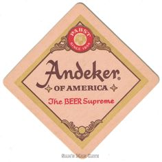 Andeker Beer Coaster Preferred Stock, Brewery Logos, Beer Coasters, Ale, Signs, Ale Beer, Shop Signs, Ales, Sign