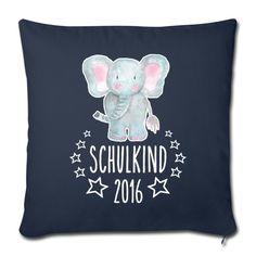 EINSCHULUNG. Ein schönes Geschenk für den kleinen Schulanfänger: Kissenbezug mit dem Motiv Schulkind 2017 (online bestellbar)