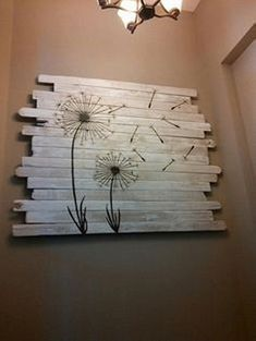 Recycled Old Pallets Wall Decor                                                                                                                                                                                 More