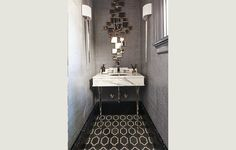 Sterling Row Featured at the Pasadena Showcase House 2015 Carriage House Library Bathroom