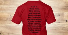 Discover I Am A 3rd Grade Teacher T-Shirt, a custom product made just for you by Teespring. With world-class production and customer support, your satisfaction is guaranteed. - Peace, Love, 3rd Gradeon thefront! A list...