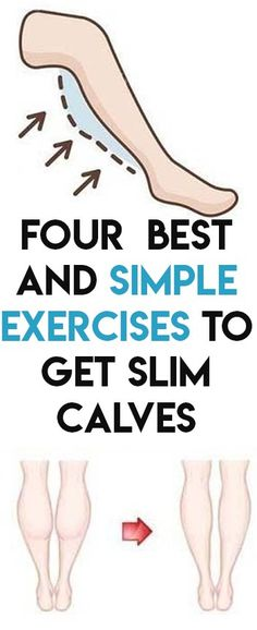 Four Best And Simple Exercises to Get Slim Calves - mesning