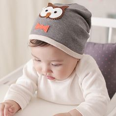 Новые Детские Мальчики Девочки Hat Хлопок Caps Новорожденного Ребенка Шляпу Сова Печати Baby Clothing Accessories