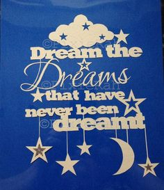 PERSONAL USE Dream Paper cut Template by PixieRahDesigns on Etsy