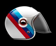 BMW-Rubin-Atelier-Helm - Motori un saule - Motorrad Retro Helmet, Vintage Helmet, Womens Motorcycle Helmets, Motorcycle Gear, Motorcycle Girls, Bike Helmets, Vintage Motorcycles, Honda Motorcycles, Victory Motorcycles