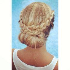 Elegante recogido/ Elegant Updo  #braids #trenzas #peinados #peinadosdenovias #peinadoscontrenzas #hairstyle #hairstyleswithbraids