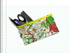 JERUSALEM map pencil case zipper pouch - a souvenir from Israel the holy land for men for woman gift idea back to school