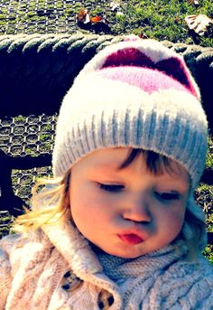 My daughter definitely has my pout ; Cashmere Hat, Lifestyle Blog, To My Daughter, Winter Hats, Crochet Hats, Heels, Baby, Inspiration, Fashion