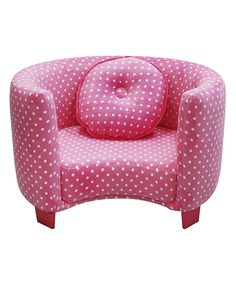 Loving this Pink Dots Comfy Kids Armchair on #zulily! #zulilyfinds