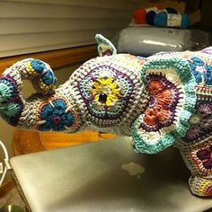 Ravelry: Project Gallery for Nellie the Elephant African Flower Crochet Pattern pattern by Heidi Bears