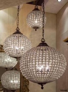 Crystal ball pendants, Classic pendants & chandeliers, Classic lighting, Classic and period lighting, Holloways of Ludlow