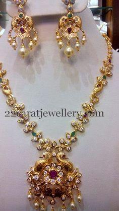 Fancy CZ necklace 42 Gms
