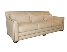 "white sofa nail head | Talking about nailhead trim on a sofa ""done well"", I was reminded of ..."