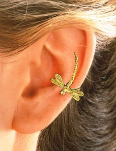 Dragonfly Ear Cuff in Sterling Silver or Gold Vermeil by EarCharms, $29.00  for  Nan Berk