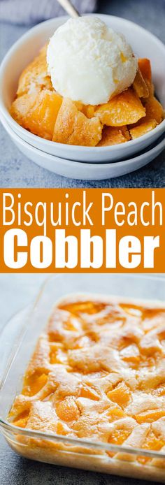 Peach Cobbler Deliciously easy to make Bisquick Peach Cobbler, a quick cobbler made with pancake mix.Deliciously easy to make Bisquick Peach Cobbler, a quick cobbler made with pancake mix. Fresh Peach Cobbler, Peach Cobbler Dump Cake, Fruit Cobbler, Easy Peach Cobbler Recipe With Cake Mix, Peach Cobbler Recipes, Sugar Free Peach Cobbler, Healthy Peach Cobbler, Apple Cobbler Easy, Peach Cobbler Cupcakes