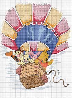 Winnie the pooh & friends disney copertina fiocco nascita punto croce Disney Stitch, Cross Stitching, Cross Stitch Embroidery, Cross Stitch Designs, Cross Stitch Patterns, Baby Elefante, Minnie Baby, Cross Stitch Fairy, Stitch Cartoon