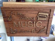 Wooden Music Sign Carved In Wood Piano by LooseChipsWoodWork