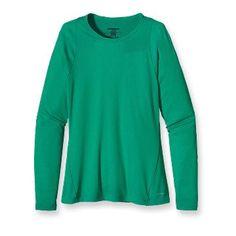 Patagonia Women's Capilene® 2 Lightweight Crew-Rubellite Pink, Black, Brilliant Green, Tailored Grey, & Larimar Blue