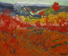 Maurice de Vlaminck (Fr. 1876-1956),Paysagede la vallée de la Seine ou Paysage d'automne,1905, huile sur toile, 46,2 x 55,2cm, New York, Museum of Modern Art