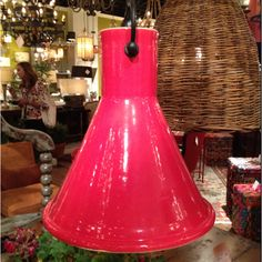 Fabulous red pendant from currey & company #hpmkt