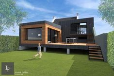 Album - Maison BL-Extension of a town house from the . - Album – Maison BL-Extension of a town house from the – Franck LABB - Building A Container Home, Container House Plans, Container House Design, Small House Design, Modern House Design, Shipping Container Home Designs, Casas Containers, Tiny House Cabin, Sims House