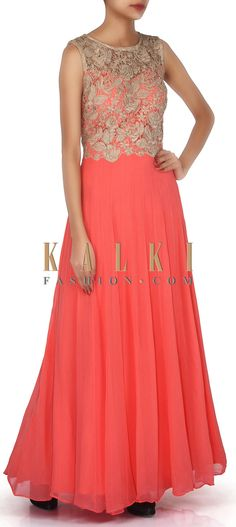 Buy Online from the link below. We ship worldwide (Free Shipping over US$100). Product SKU - 304490. Product Link - http://www.kalkifashion.com/pink-anarkali-suit-adorn-in-resham-embroidery-only-on-kalki.html